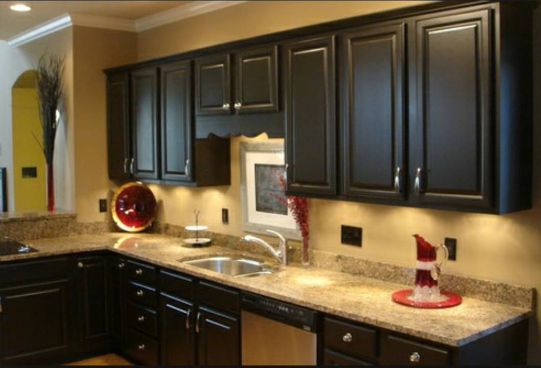Cabinet refinishing denver painting kitchen cabinets for Painted cabinets in kitchen