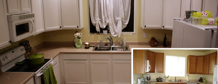 Painting kitchen cabinets denver cabinet refinishing for Kitchen cabinets colorado springs